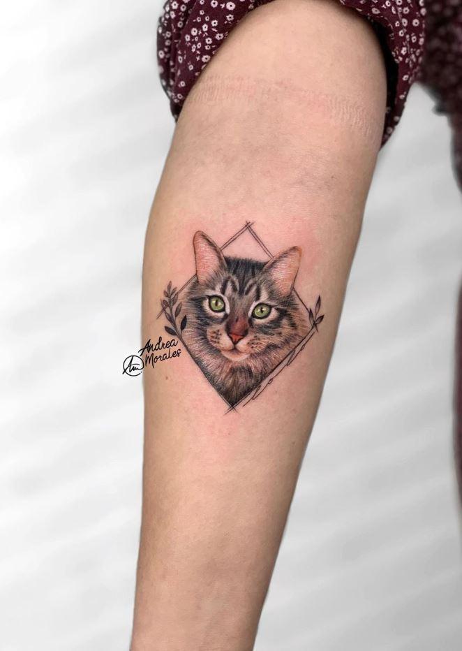 Beautiful Cat Tattoo