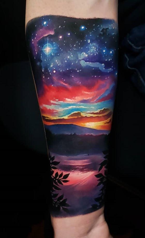 Colorful Sky Tattoo