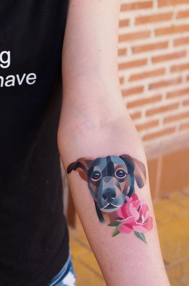 Cute Dog Tattoo