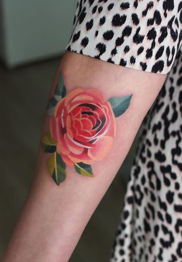 English Rose Tattoo
