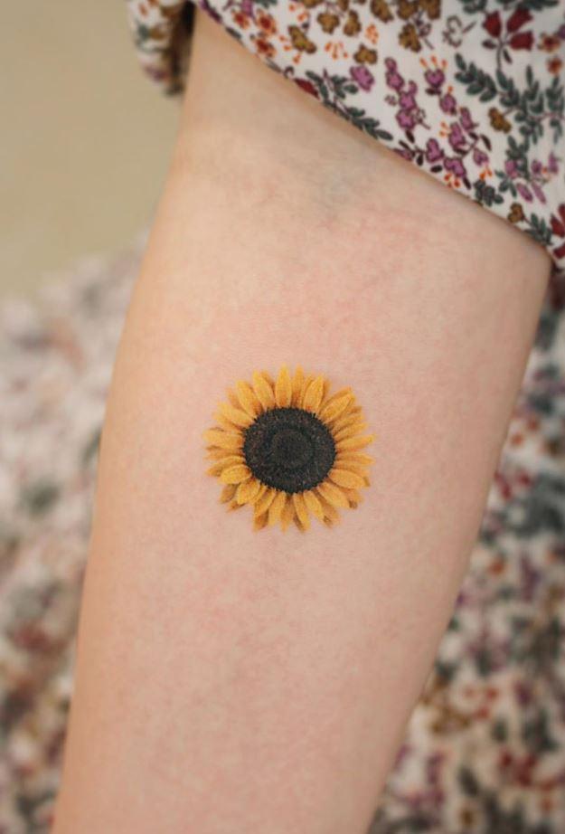Little Sunflower Tattoo