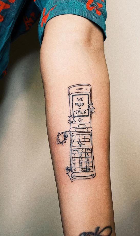 Mobile Phone Tattoo