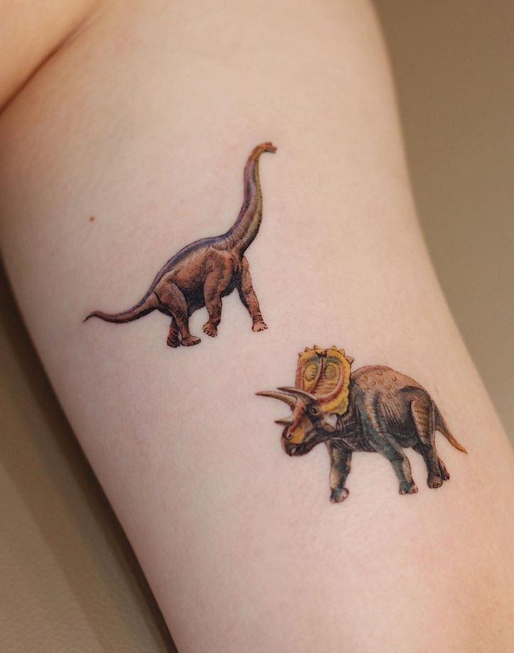 Small Dinosaurs Tattoo
