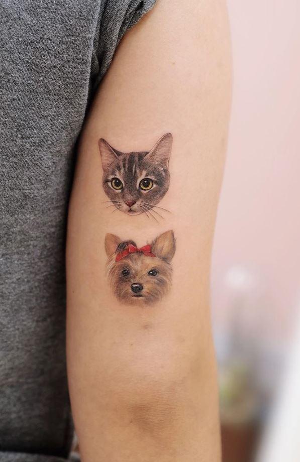 Tiny Cats Tattoo