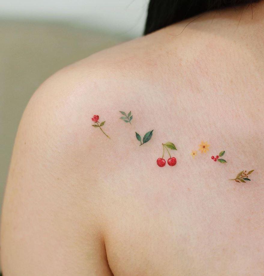 Tiny Flowers Tattoo