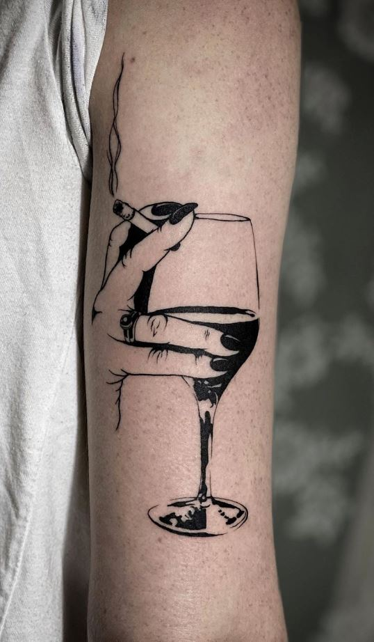 Wine Glass Tattoo