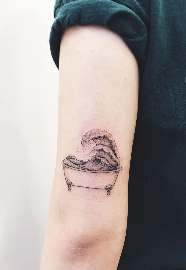 Bath Wave Tattoo
