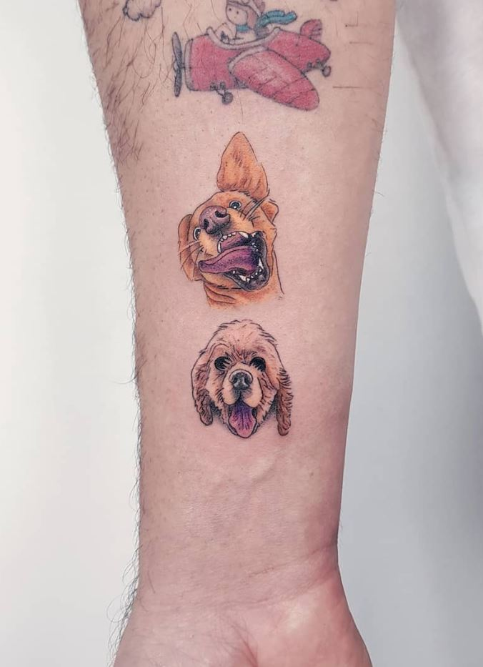Cute Dogs Tattoo