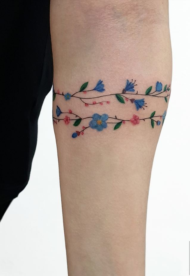 Flower Bracelet Tattoo