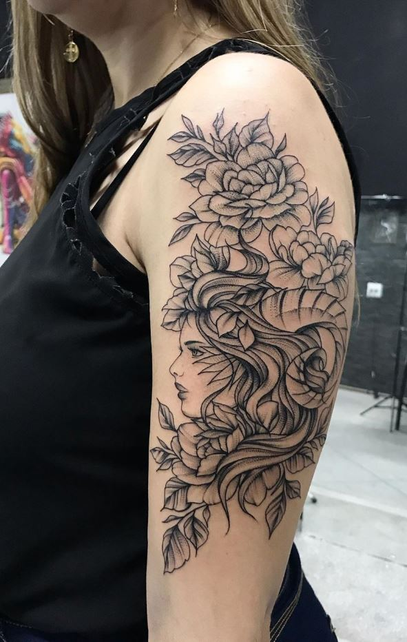 Flower Girl Tattoo