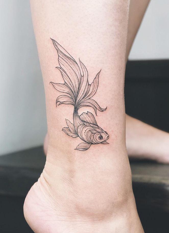 Grayscale Fish Tattoo