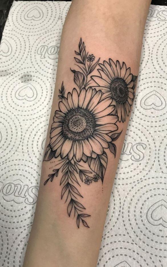 Marvelous Sunflowers Tattoo
