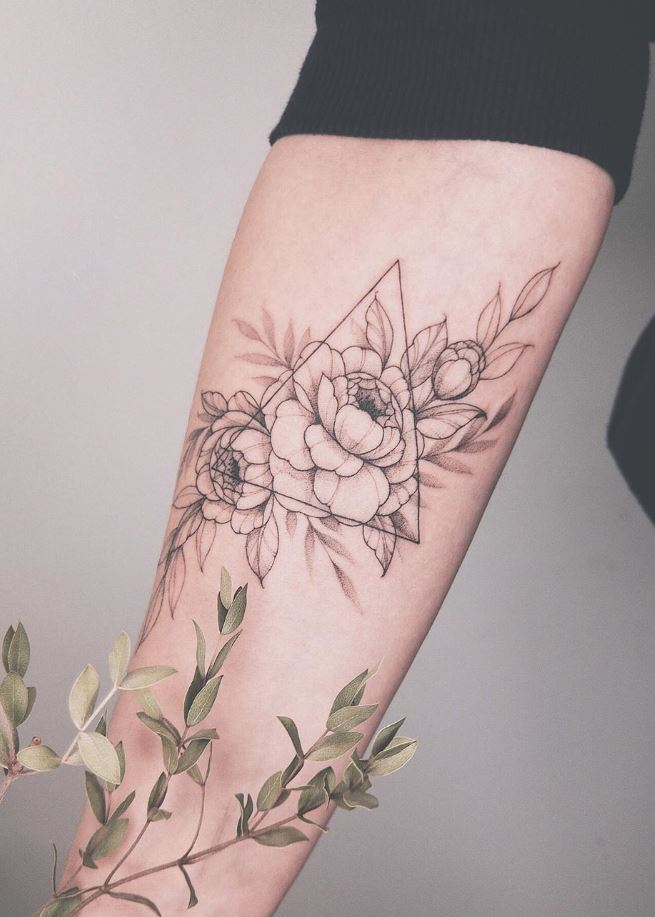 Outstanding Floral Tattoo