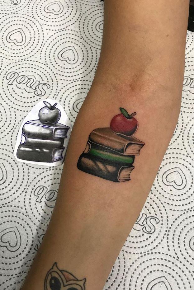 Small Books Tattoo