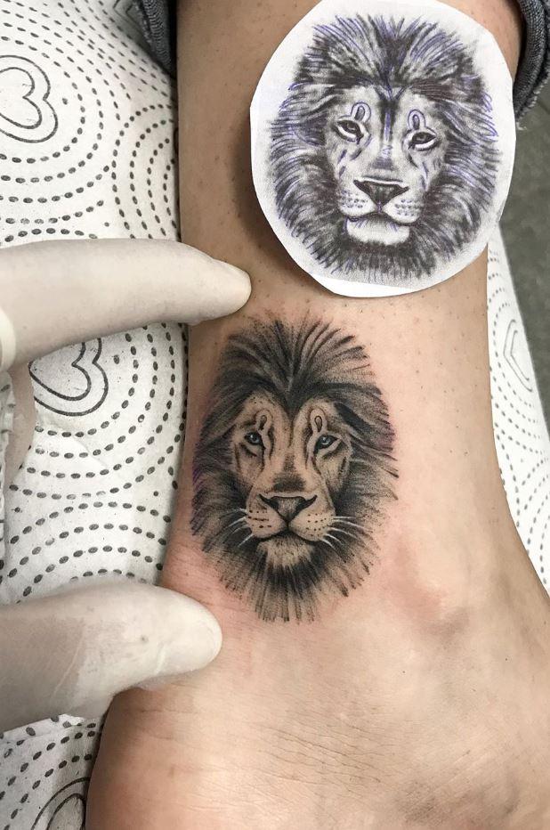 Small Lion Tattoo