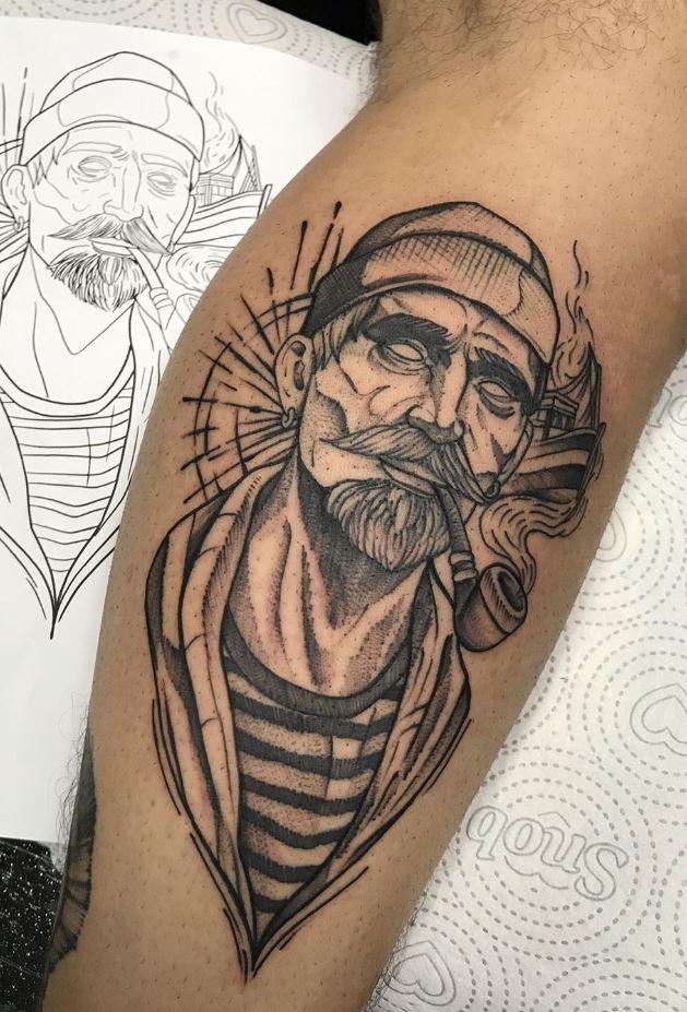 Smoking Man Tattoo