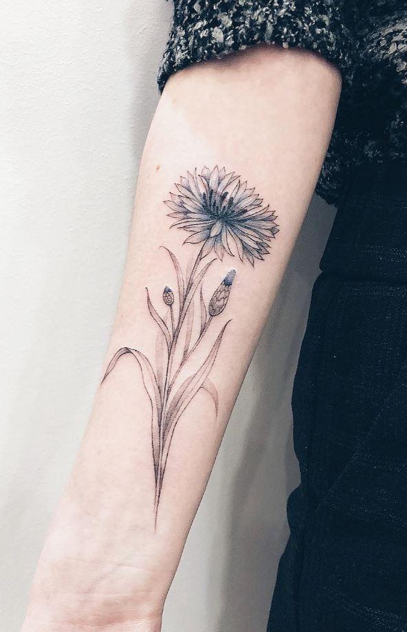 Superb Flower Tattoo