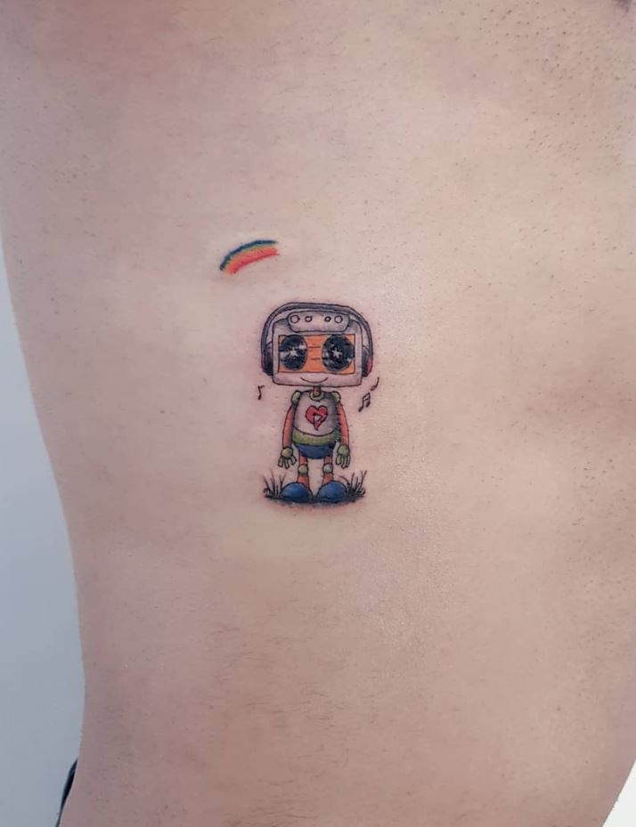 Tiny Robot Tattoo
