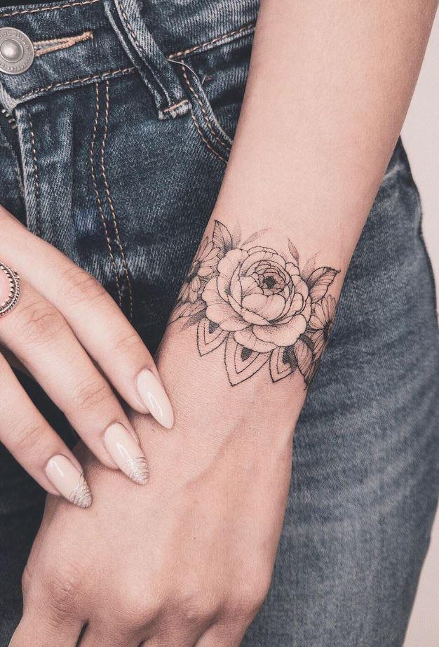 Wrist Flower Tattoo