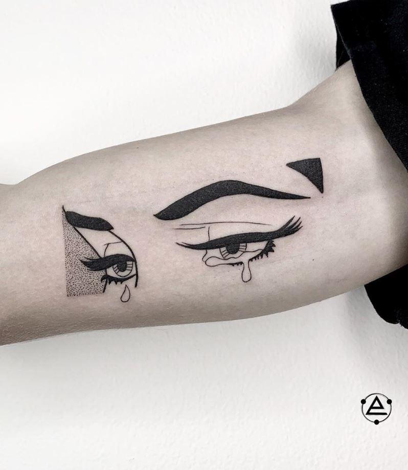 Crying Girl Tattoo