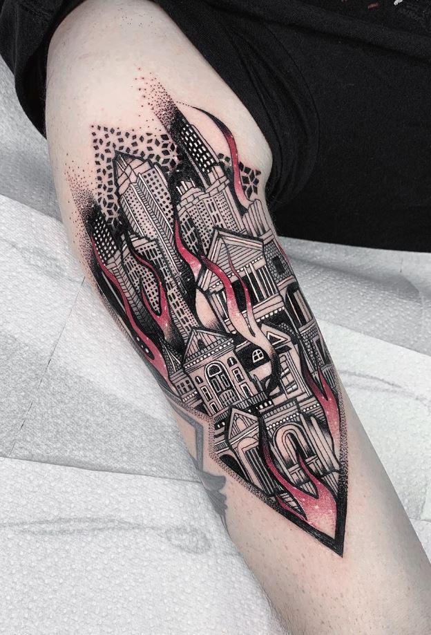 Burning City Tattoo