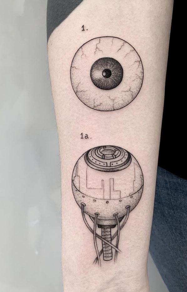 Cyberg Eye Tattoo