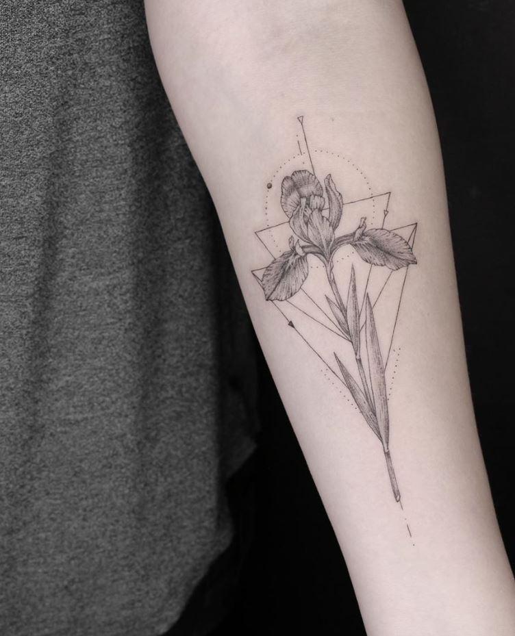 Iris Flower Tattoo