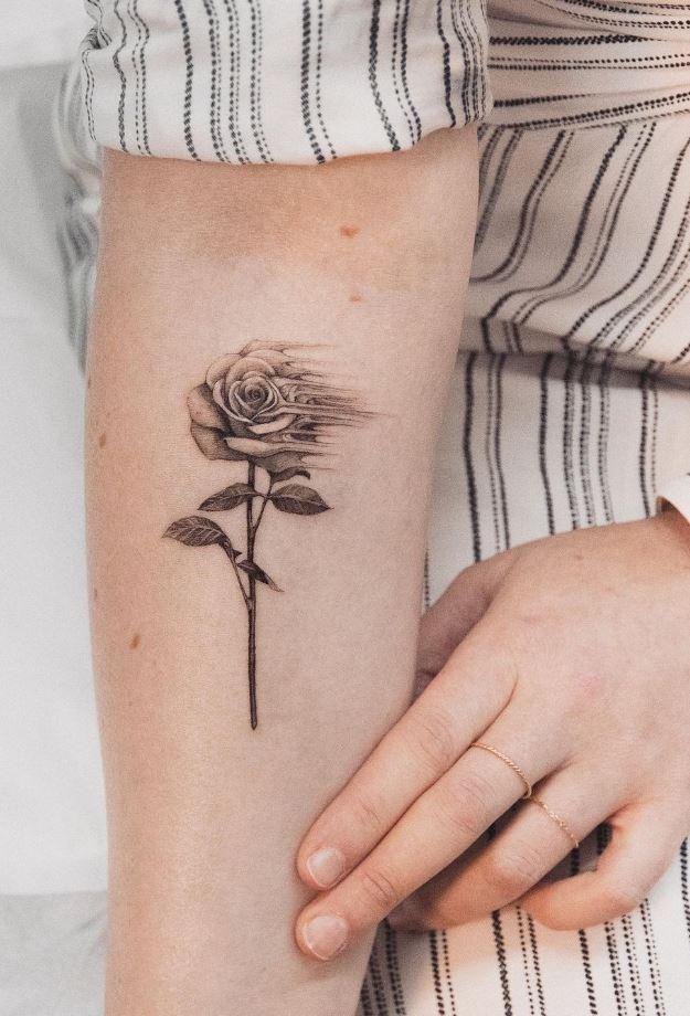 Fading Rose Tattoo