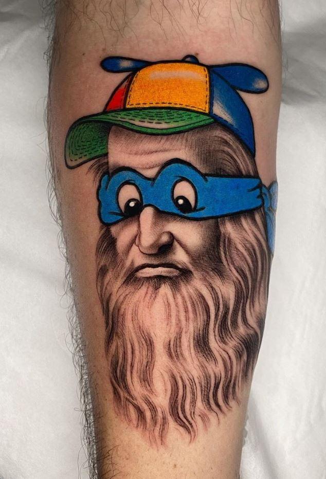 Funny Da Vinci Tattoo