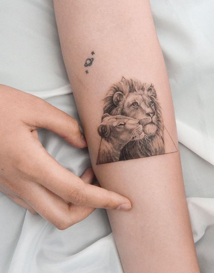 Lion Couple Tattoo