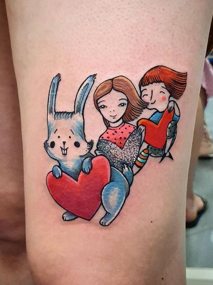 Playing Children Tattoo