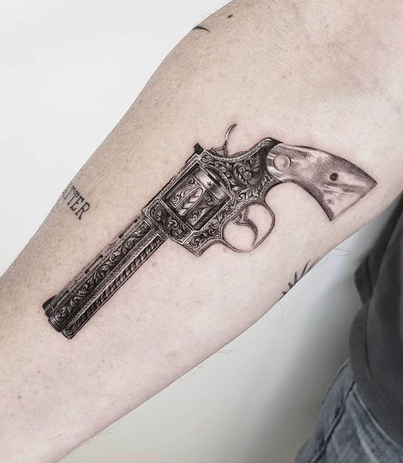 Antique Colt Tattoo