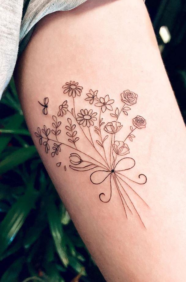 Cute Flowers Tattoo