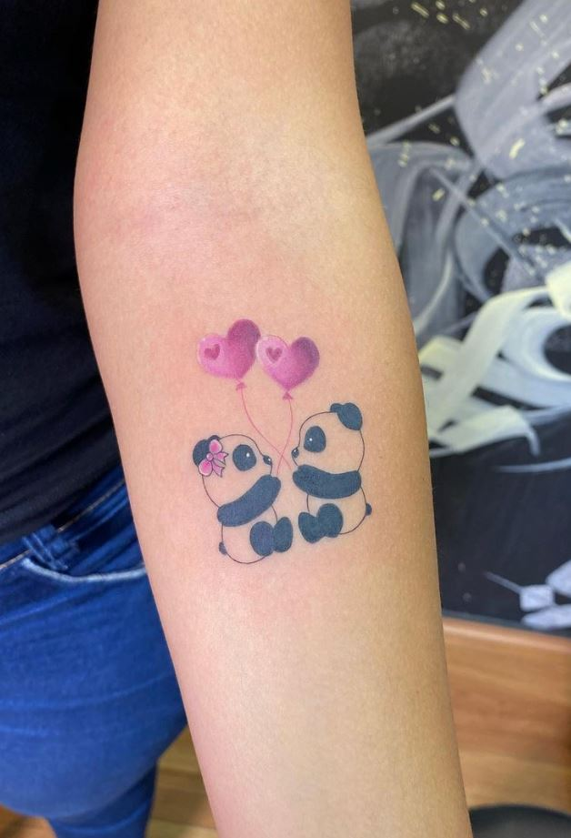 Cute Pandas Tattoo