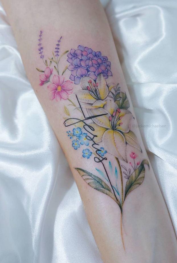 Stunning Flowers Tattoo