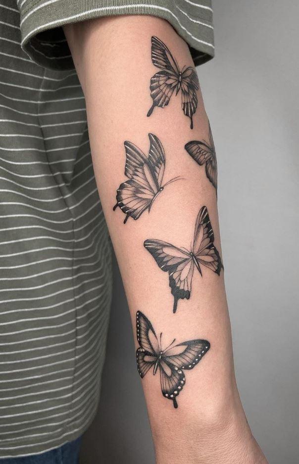 Amazing Butterflies Tattoo