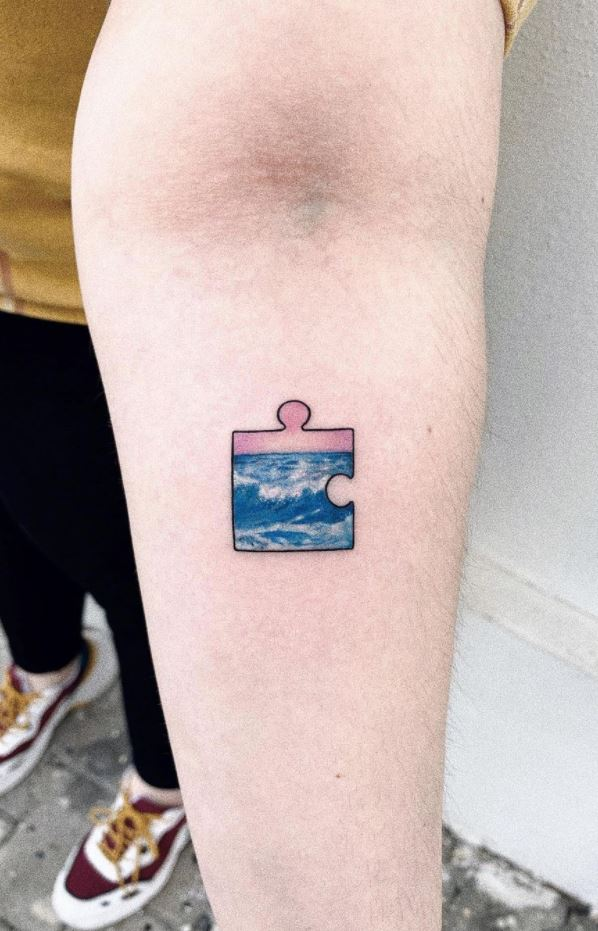 Wave Puzzle Tattoo