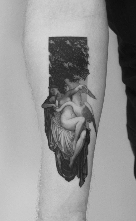 Leda With The Swan Tattoo